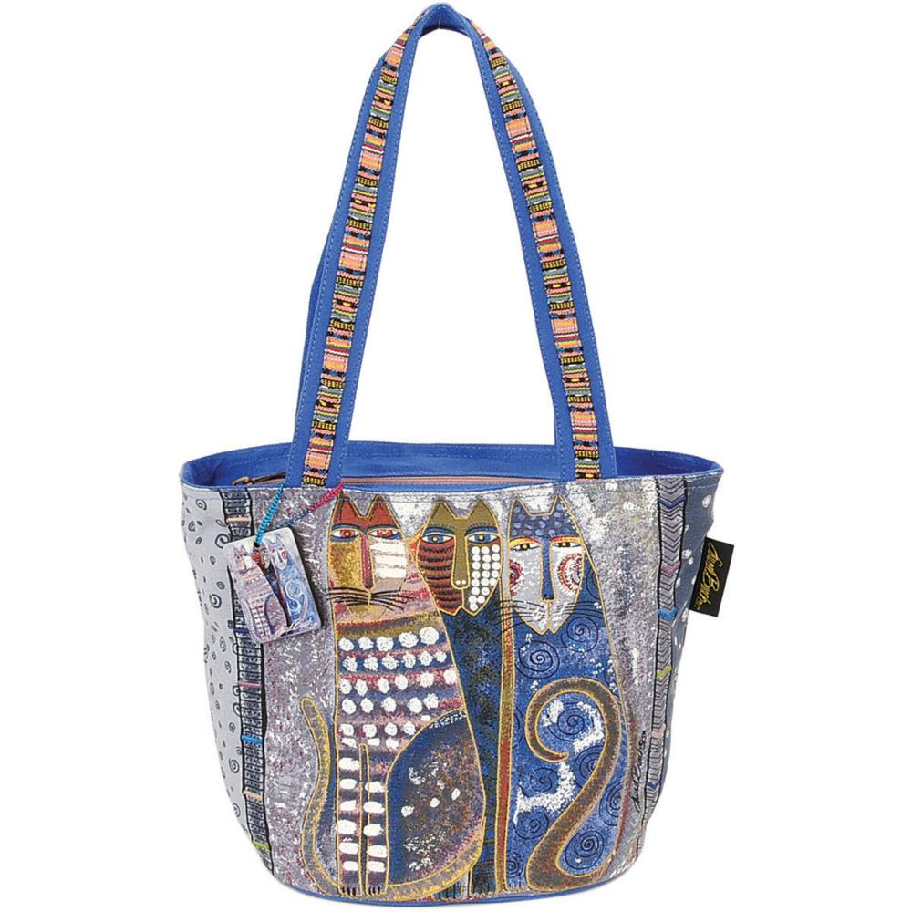 click here to view larger image of Autumn Felines - Medium Tote Zipper Top (accessory)