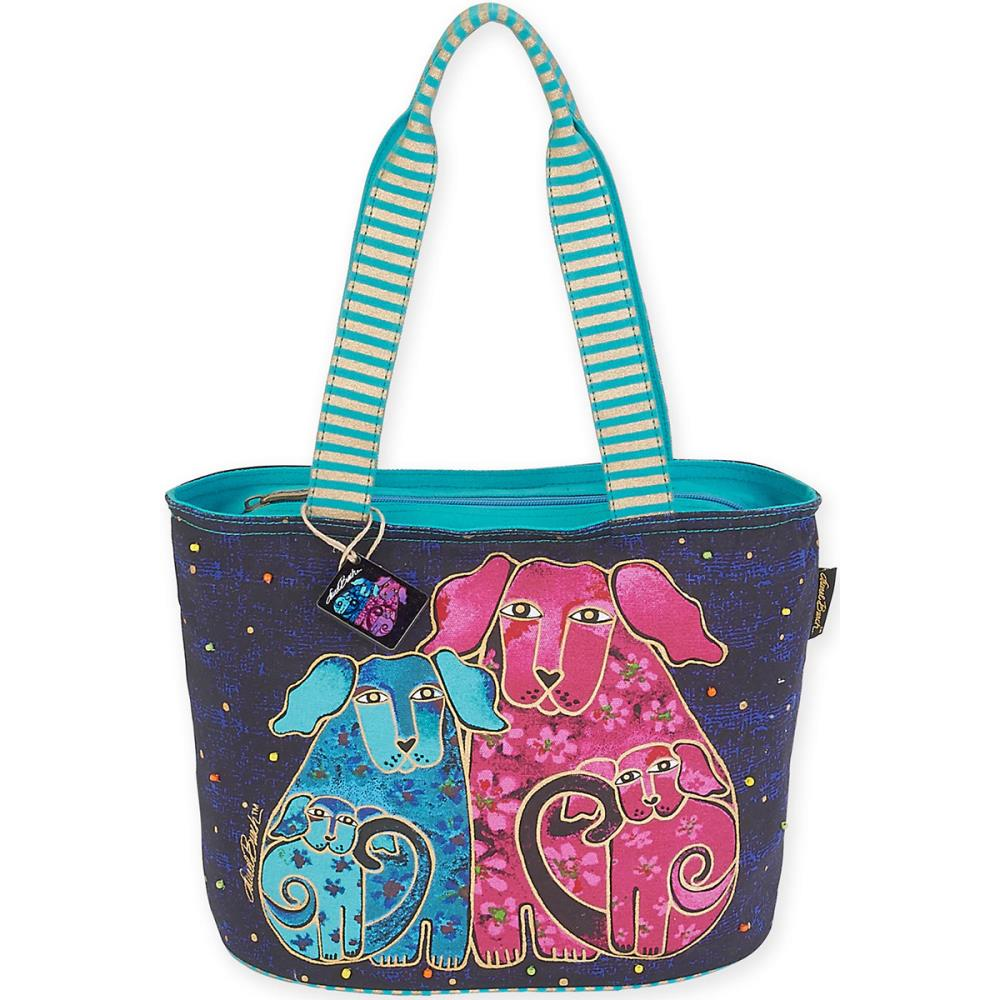 click here to view larger image of Blossoming Pups - Medium Tote (accessory)