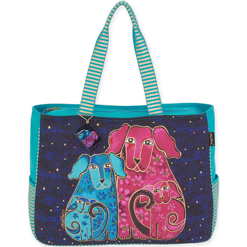 click here to view larger image of Blossoming Pups - Oversized Tote (accessory)